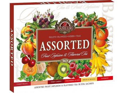 Basilur dárková sada Assorted Fruit & Flavoured, 30 sáčků