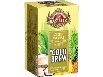 Basilur Cold Brew Coconut Pineapple, ledový čaj , kokos, ananas