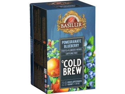 Basilur Cold Brew Pomegranate Blueberry, granátové j.,borůvka