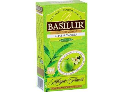 Basilur Magic Apple & Vanilla, zelený čaj, jablko, vanilka