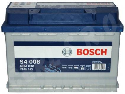 Autobaterie BOSCH S4 008, 74Ah (0 092 S40 080)