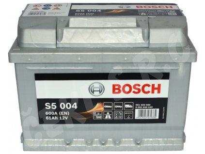Autobaterie BOSCH S5 004, 61Ah (0 092 S50 040)