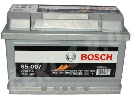Autobaterie BOSCH S5 007, 74Ah (0 092 S50 070)