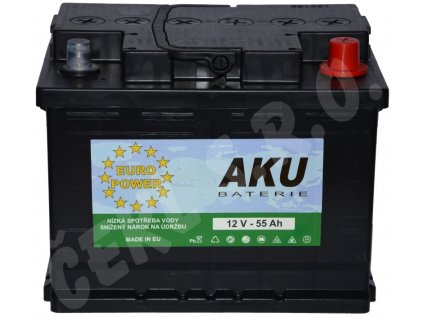 Autobaterie  EURO POWER 55Ah