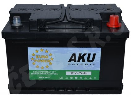 Autobaterie  EURO POWER 74Ah