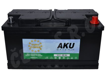 Autobaterie  EURO POWER 80Ah