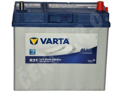 Autobaterie VARTA Blue dynamic 45Ah - malé kontakty , B31 (Asia Typ)