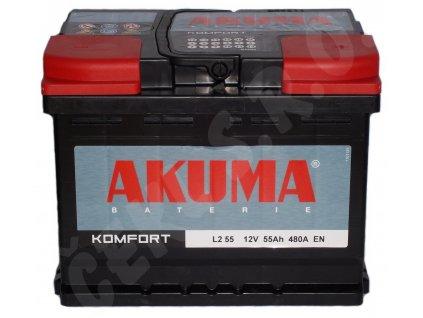 Autobaterie  AKUMA Komfort 55Ah