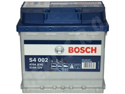 Autobaterie BOSCH S4 002, 52Ah (0 092 S40 020)