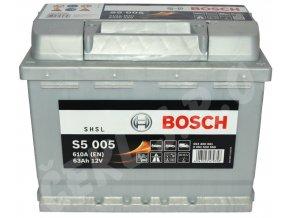 Autobaterie BOSCH S5 005, 63Ah (0 092 S50 050)
