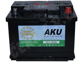 Autobaterie  EURO POWER 62Ah