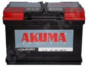 Autobaterie  AKUMA Komfort 74Ah