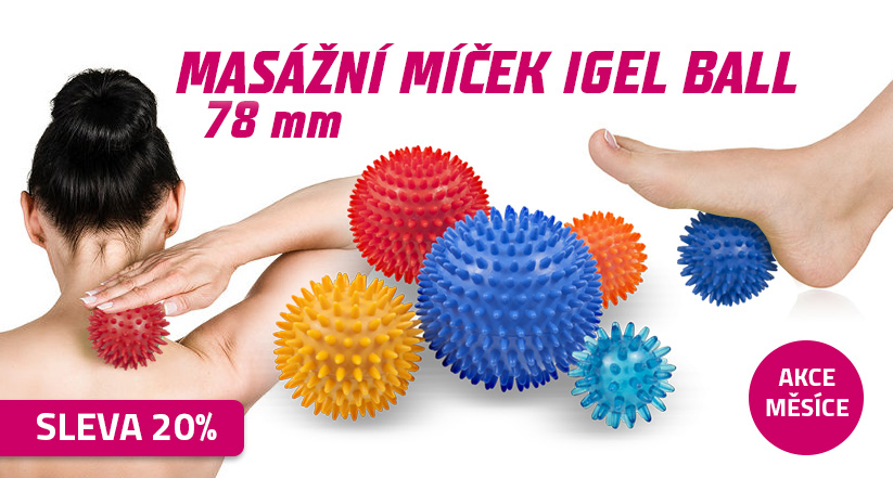 Masážní míček Igell Ball 7,8 cm