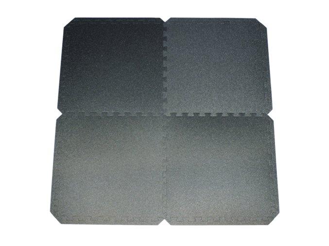 Fitness PuzzleMat černá, sada 4 kusů