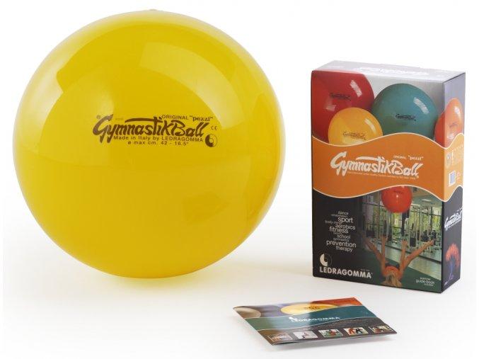 Sada Gymnastik Ball Standard 42 cm žlutá barva + kniha a DVD Janošková