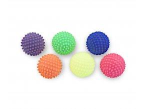 Masážní reflexní míček ježek s měkkými bodlinkami 6 cm