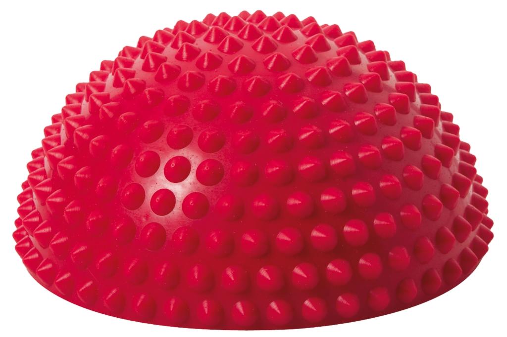 Balanční polokoule Senso Balance Igel s bodlinkami barva: červená