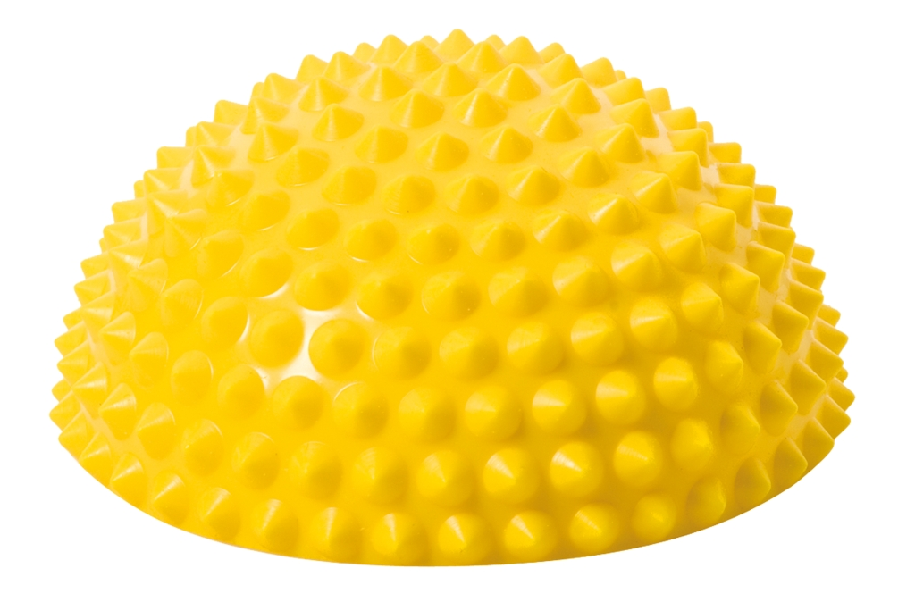 Balanční polokoule Senso Balance Igel s bodlinkami barva: žlutá