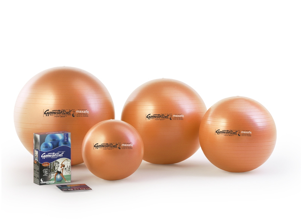 Sada Gymnastik Ball Maxafe 65 cm + kniha a DVD Janošková barva: oranžová