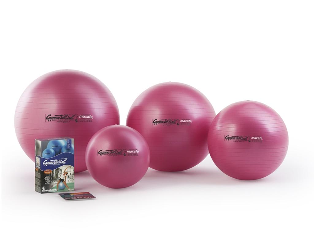 Sada Gymnastik Ball Maxafe 65 cm + kniha a DVD Janošková barva: růžová fuchsia