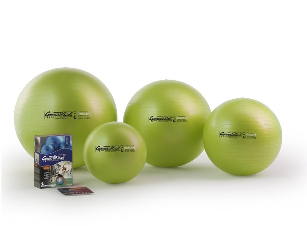 Sada Gymnastik Ball Maxafe 65 cm + kniha a DVD Janošková barva: limetkově zelená