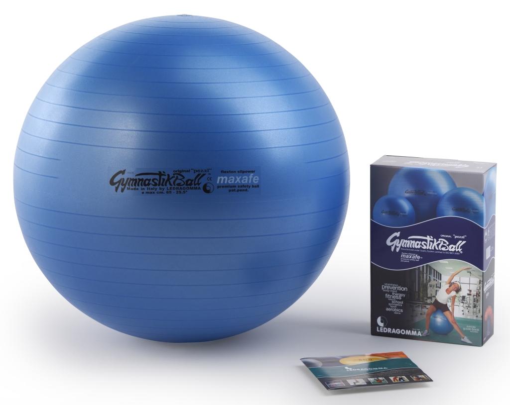 Sada Gymnastik Ball Maxafe 65 cm + kniha a DVD Janošková barva: Modrá