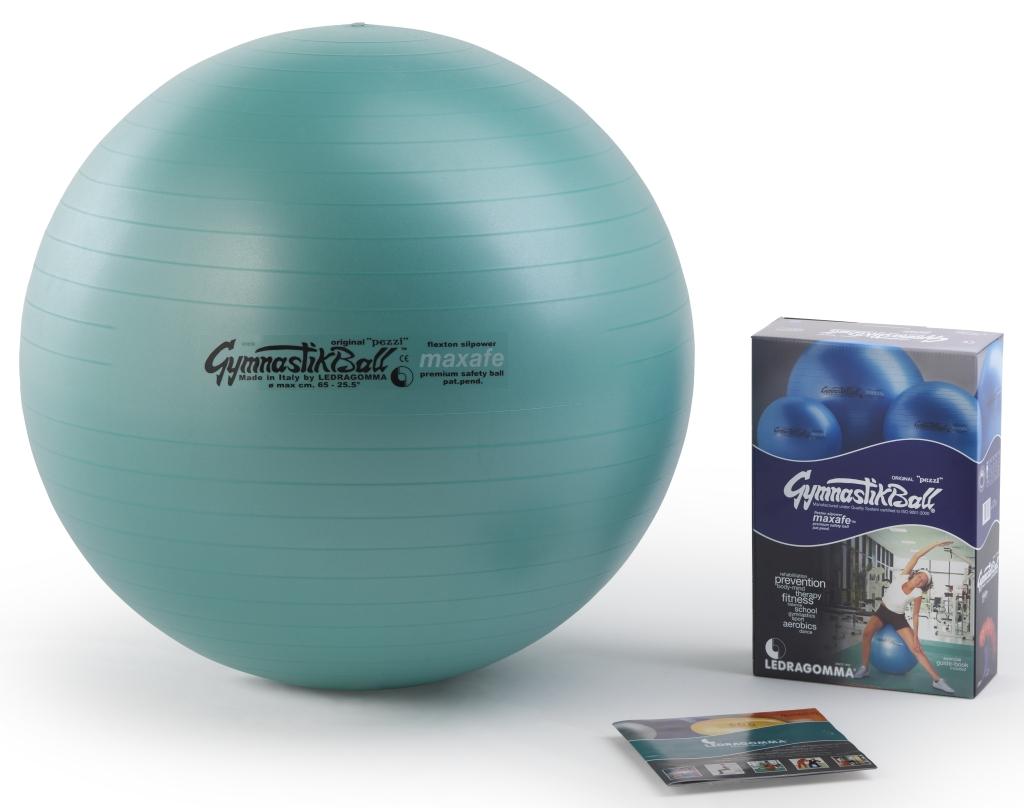 Sada Gymnastik Ball Maxafe 65 cm + kniha a DVD Janošková barva: Zelená