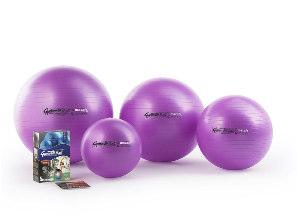 Sada Gymnastik Ball Maxafe 65 cm + kniha a DVD Janošková barva: fialová