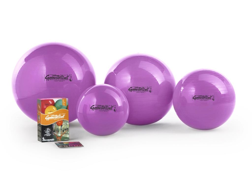 Gymnastik Ball Standard 65 cm barva: fialová