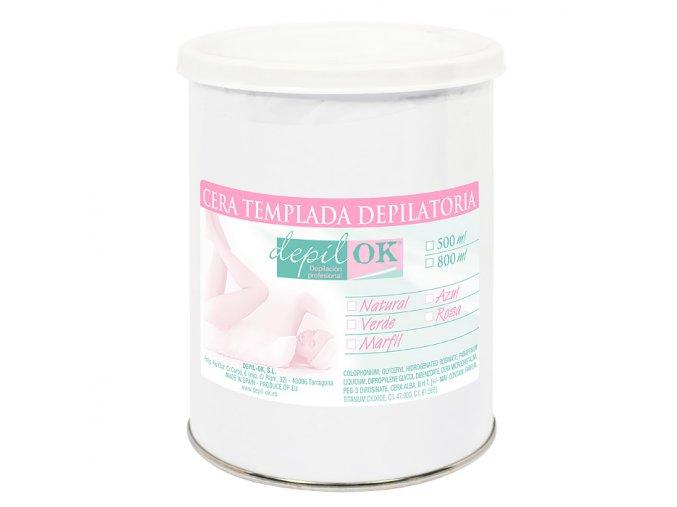 Depilační vosk Depil-OK tekutý v plechovce růžový 800g