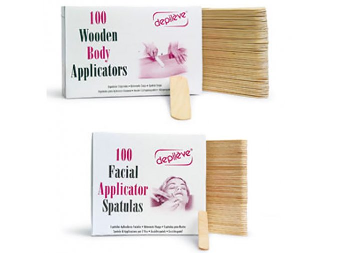 Dřevěné špachtle pro nanášení vosku