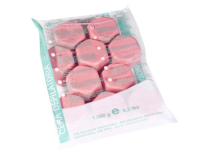Depilační vosk růžový na citlivé partie v tabletách 1kg