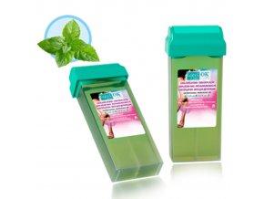 Mátový depilační vosk s chlorofylem a Tea tree olejem 100g Roll on