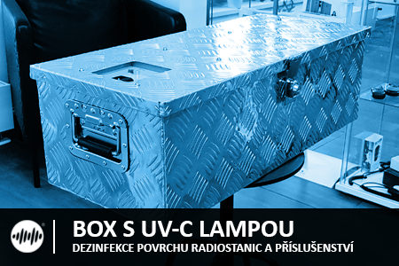 BOX NA RADIOSTANICE S UV-C GERMICIDNÍ LAMPOU