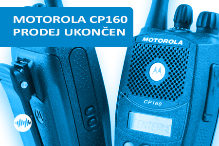 MDH65RDF9AA3AN - MOTOROLA CP160 UHF 438-470MHz - UKONČEN PRODEJ