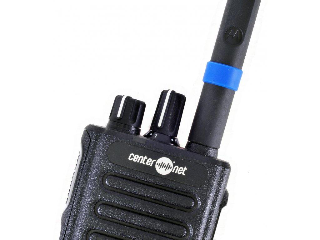 32012144004 Rozlišovací kroužek na anténu radiostanice - modrý, 10ks