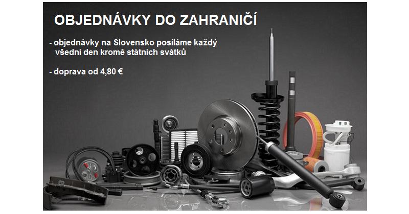 Zboží posíláme i na Slovensko