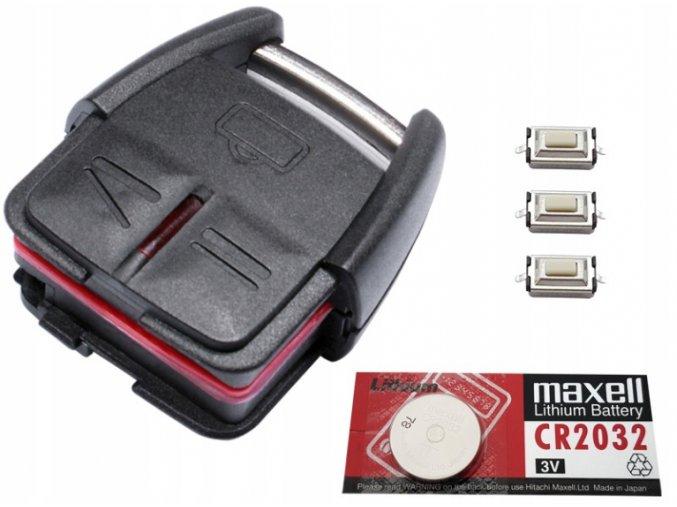 Náhradní obal klíče 3-tlačítkový, OPEL VECTRA C SIGNUM OMEGA B + dárek