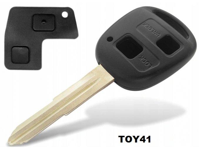 Náhradní obal klíče 2-tlačítkový, TOYOTA TOY41, TOY43, TOY45