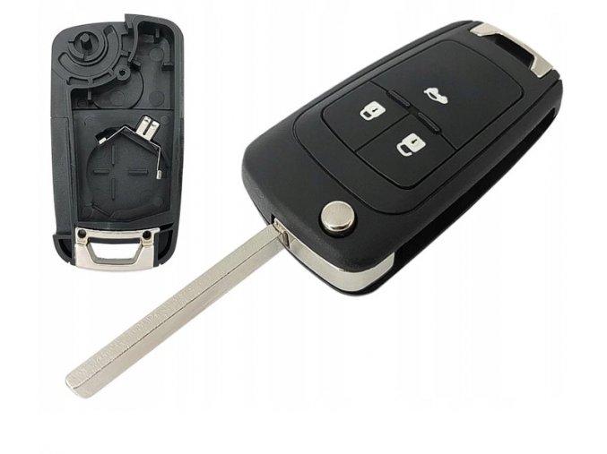 Náhradní obal klíče 3-tlačítkový, OPEL INSIGNIA ASTRA H J 3 (HU100)