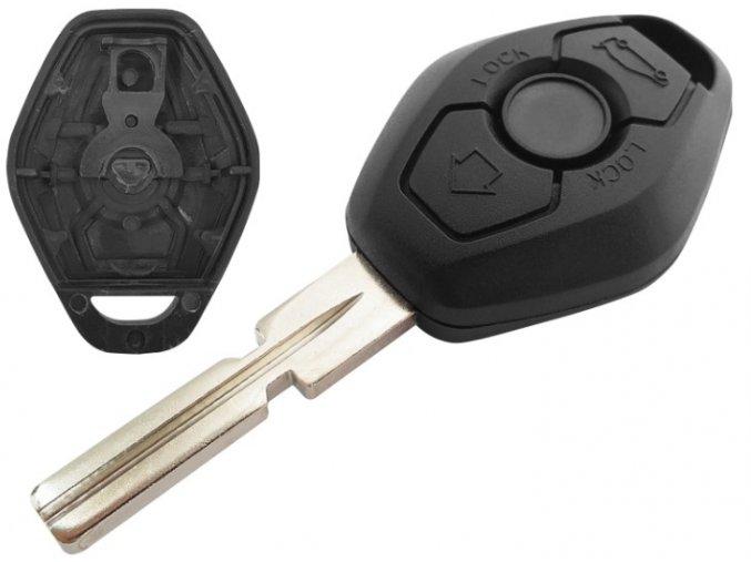 Náhradní obal klíče 3-tlačítkový, BMW E36 E39 E38 E46 X5 Z3 (HU58)