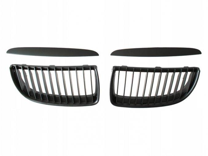 Přední maska, ledvinky, mřížky černá matná BMW 3 E90 E91 (2004-2008) - sada L+P