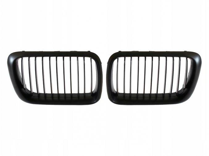Přední maska, ledvinky, mřížky černá matná BMW 3 E36 (1996-1999) - sada L+P