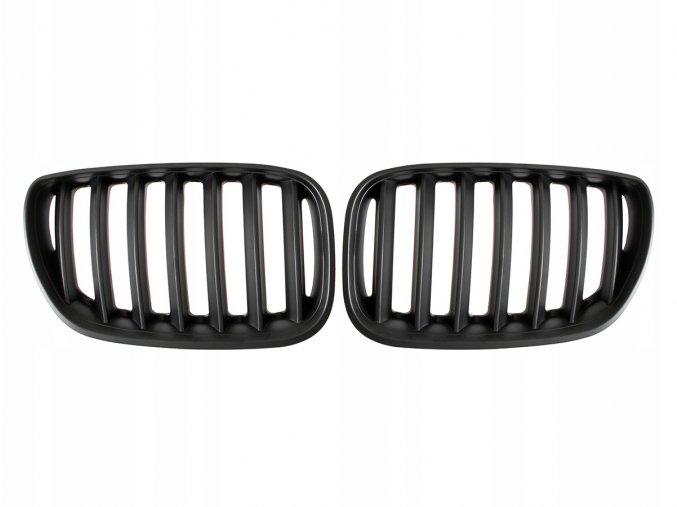 Přední maska, ledvinky, mřížky černá matná BMW X5 E53 (2003-2006) - sada L+P