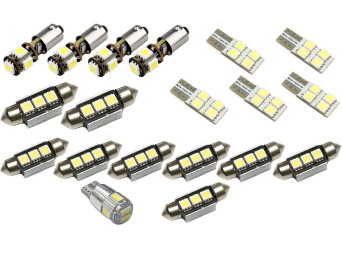 LED osvětlení interiéru AUDI A6 C5 SEDAN - sada