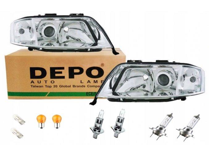 Přední světla AUDI A6 C5 (97-01) - sada DEPO