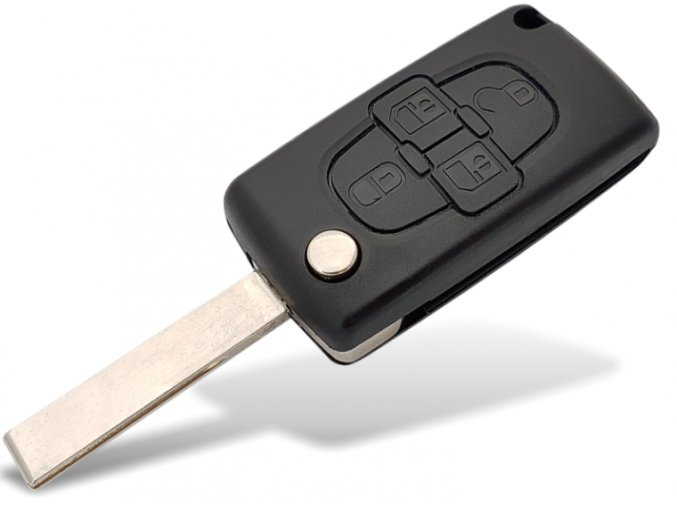 Náhradní obal klíče 4-tlačítkový, CITROEN C8 (HU83)