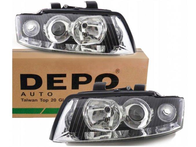 Přední světla AUDI A4 B6, H7+H7 (00-04) L+P DEPO