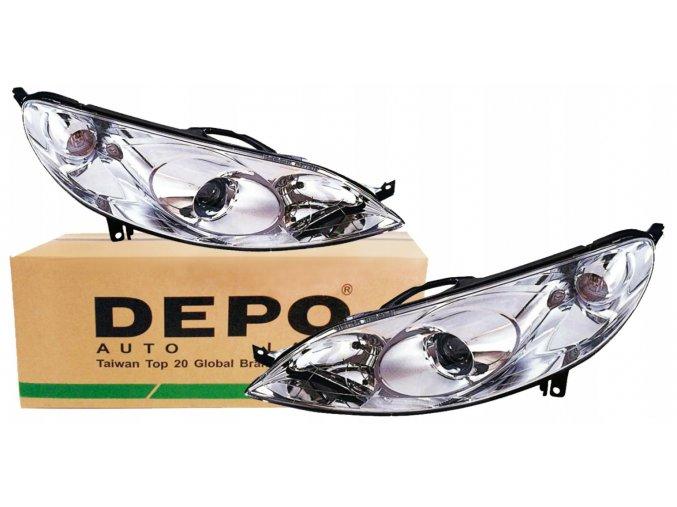 Přední světla PEUGEOT 407 (04-10) L+P DEPO