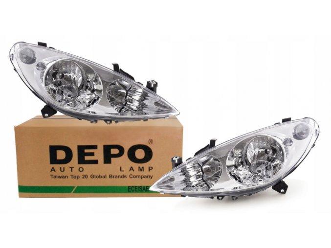 Přední světla Peugeot 307 (01-05) L+P DEPO